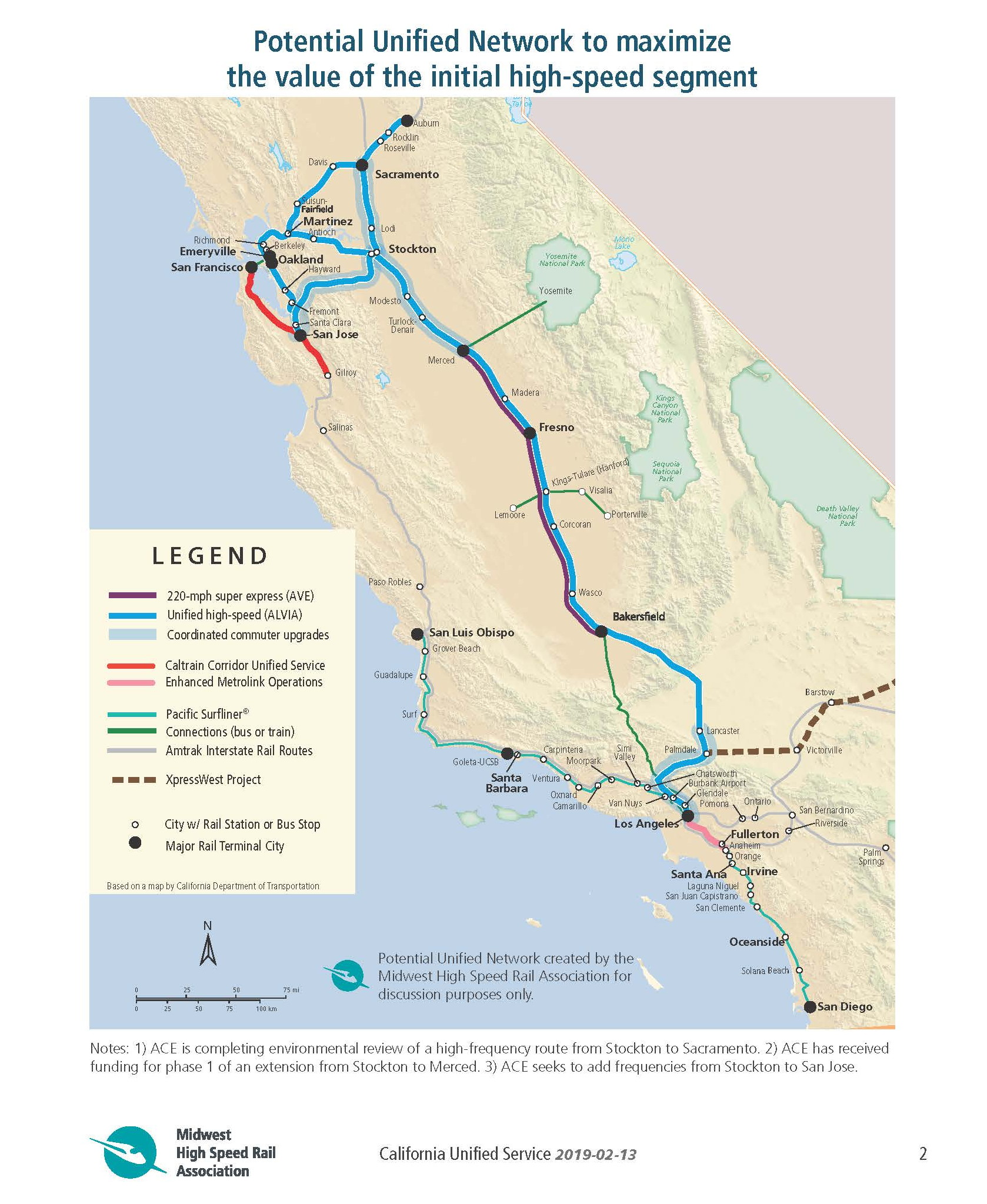 Map Of California High Speed Rail.Unified Service California S High Speed Rail Solution Midwest