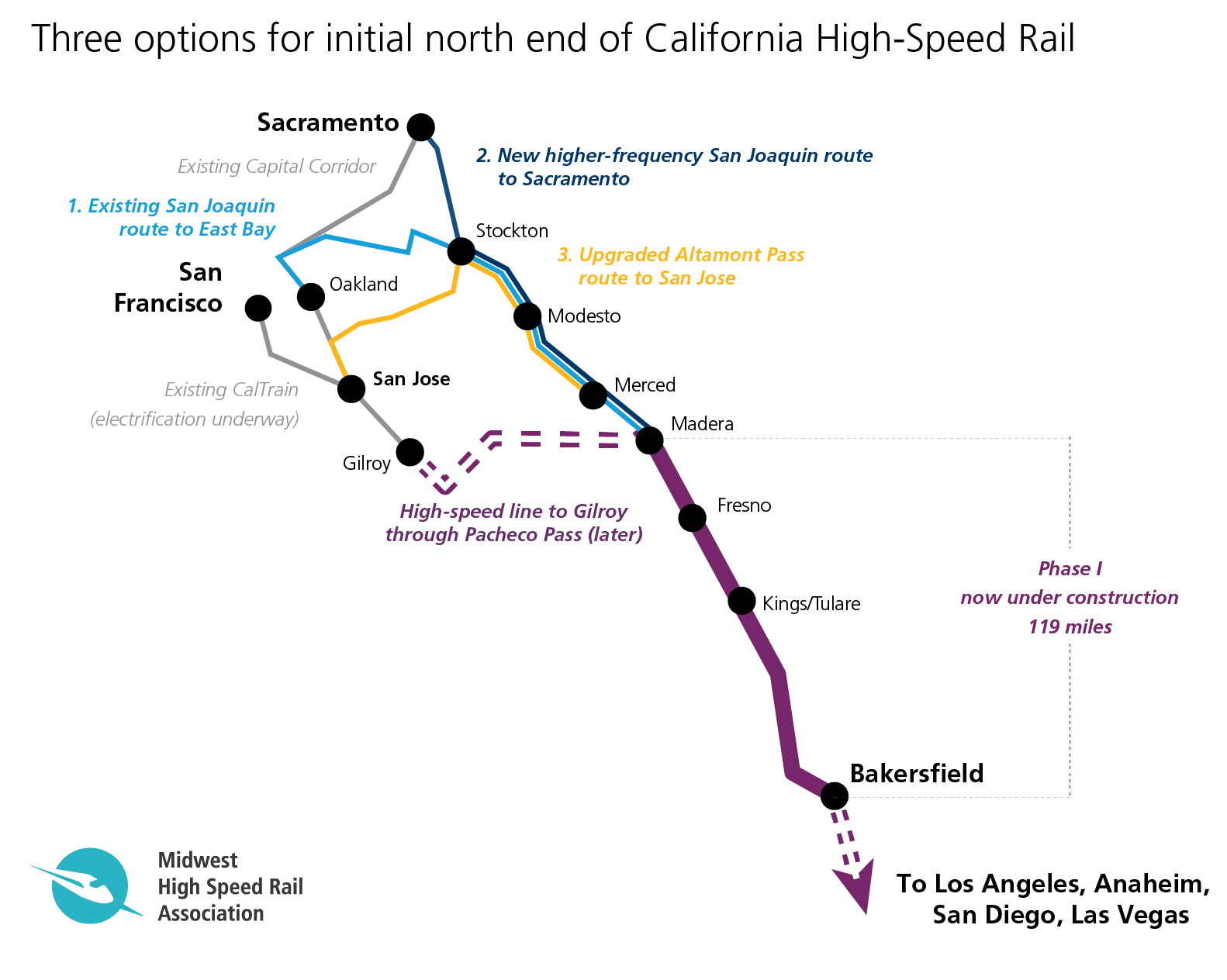 Map Of California High Speed Rail.Does California Have More Options Than It Realizes For First High