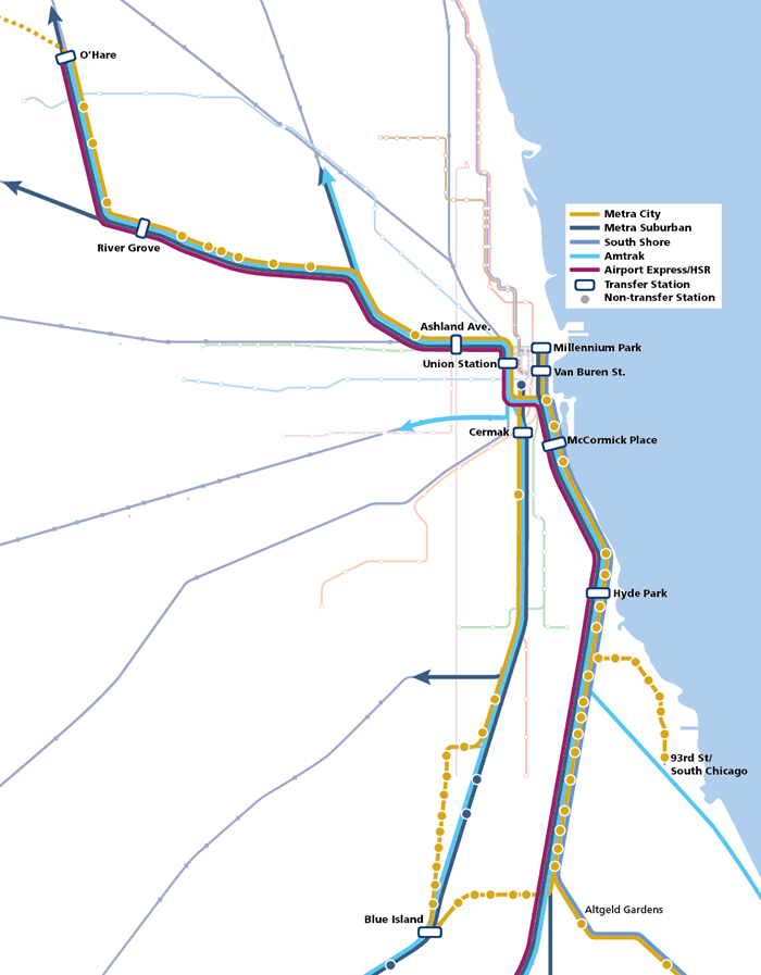 CrossRail Chicago map