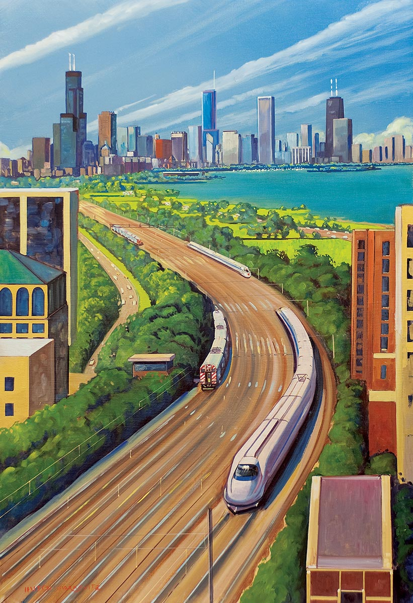 Chicago High Fashion Editorial: Midwest High Speed Rail Association