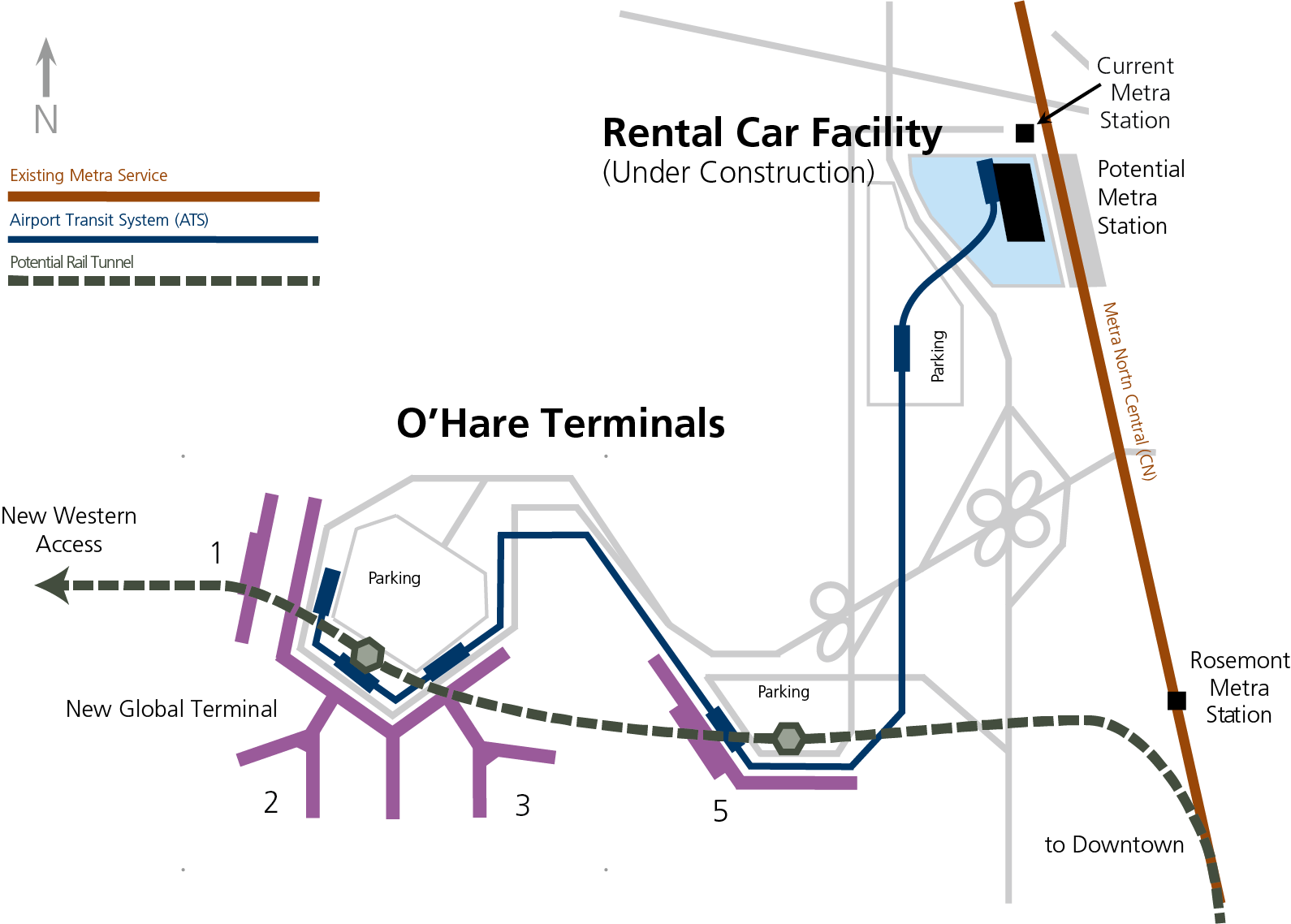 Where are the trains in $8.5 billion O'Hare plan? | High ... on chicago o'hare parking map, chicago subway map with streets, chicago south shore train map, chicago midway train map, chicago orange line train map, chicago blue line train map, chicago loop train map, o'hare arrivals map, chicago o'hare road map, columbus ohio rail map, o'hare airport map, hare chicago airport terminal map, chicago o'hare airline map, elevated train chicago map, chicago el train map, chicago l stations map, chicago airport train map, cta map,